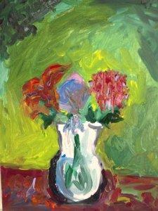 Scott painting at August Art