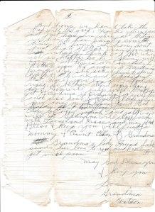 Gradma's letter page 2 001