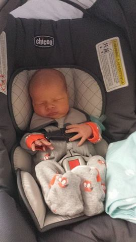 Miles in carseat